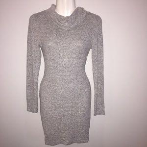 Gray Turtleneck Dress